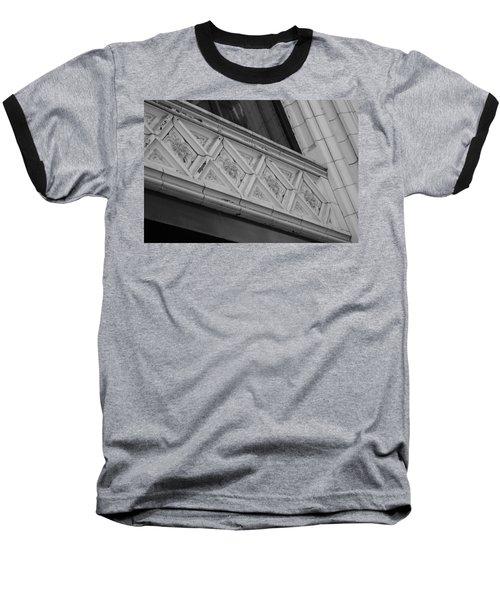 Diamond Patterns In Black And White Baseball T-Shirt