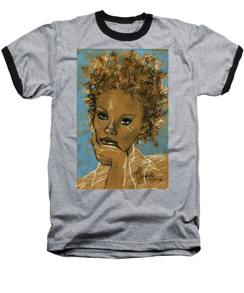 Diamond's Daughter Baseball T-Shirt by P J Lewis