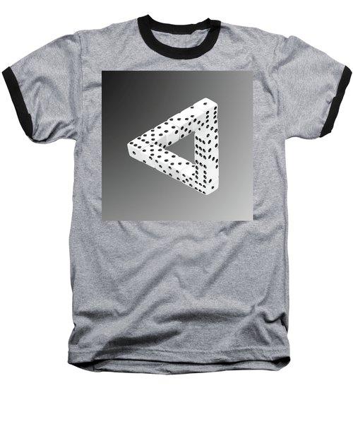 Dice Illusion Baseball T-Shirt