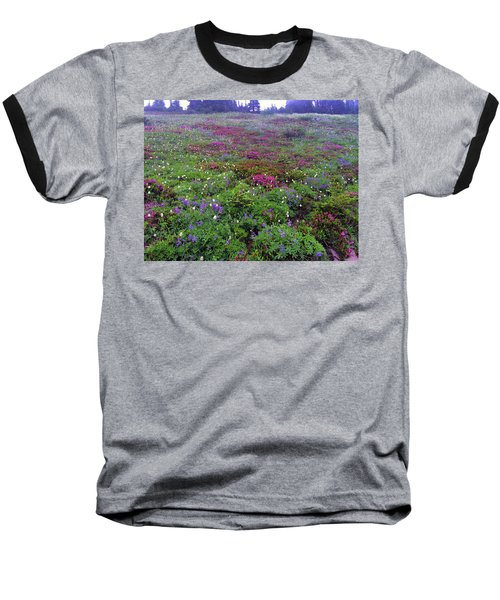 Dickerman Floral Meadow Baseball T-Shirt