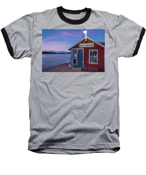 Baseball T-Shirt featuring the photograph Dicks Lobsters - Crabs Shack In Maine by Ranjay Mitra
