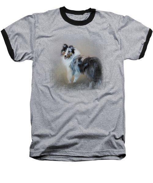 Did You Call Me - Blue Merle Shetland Sheepdog Baseball T-Shirt