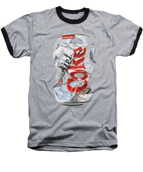 Diet Coke T-shirt Baseball T-Shirt by Herb Strobino