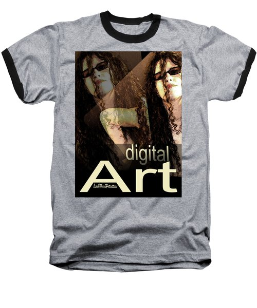 Digital Art Poster Baseball T-Shirt
