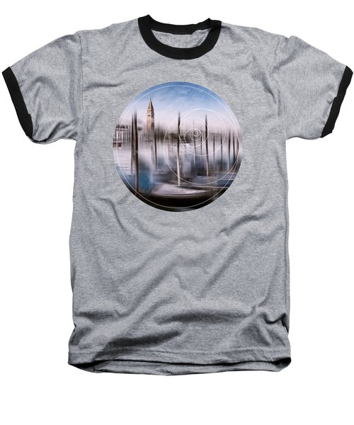 Digital-art Venice Grand Canal And St Mark's Campanile Baseball T-Shirt