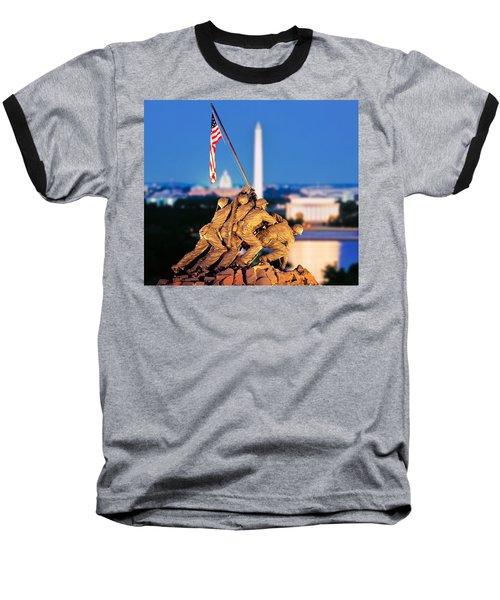 Digital Composite, Iwo Jima Memorial Baseball T-Shirt