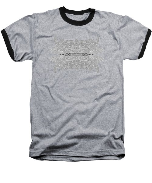 Digital Crochet Baseball T-Shirt by Linda Phelps