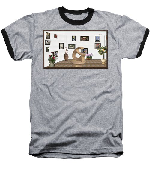 Baseball T-Shirt featuring the mixed media digital exhibitartion _Statue of  girl by Pemaro
