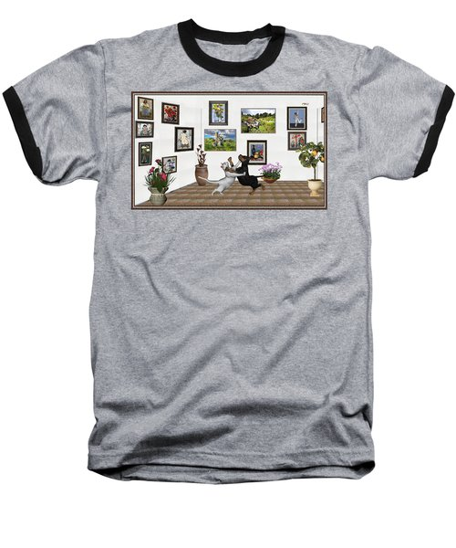 Baseball T-Shirt featuring the mixed media Digital Exhibition _ Dancing Lovers by Pemaro