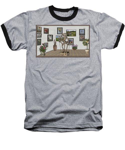 Digital Exhibition _ Modern  Statue 1   Of Dancing Girl Baseball T-Shirt by Pemaro