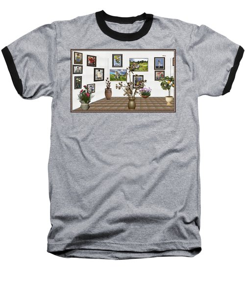 Baseball T-Shirt featuring the mixed media digital exhibition _ Modern Statue of Modern statue of branches by Pemaro