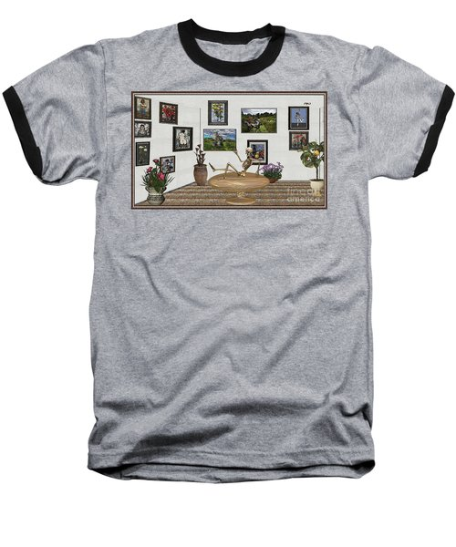 Digital Exhibition _ Relaxation In The Afterlife Baseball T-Shirt by Pemaro