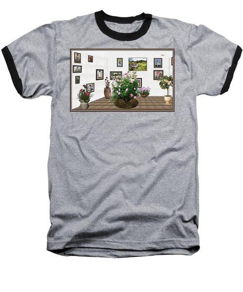 Baseball T-Shirt featuring the mixed media Digital Exhibition _ Roses Blossom 22 by Pemaro