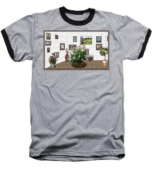Digital Exhibition _ Roses Blossom 22 Baseball T-Shirt by Pemaro