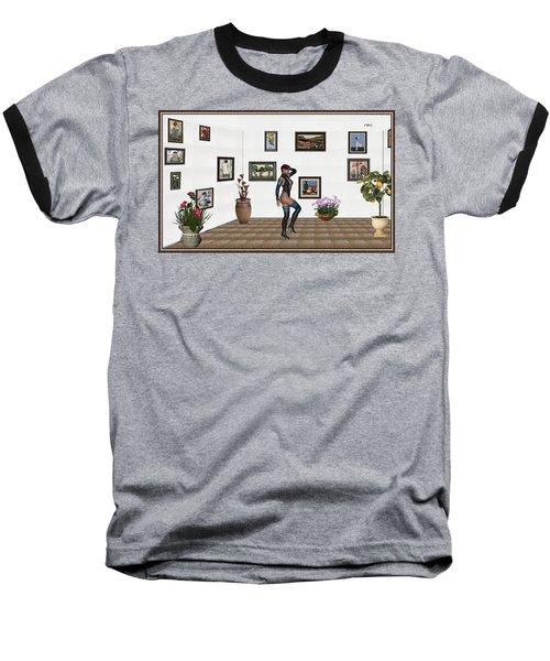 Baseball T-Shirt featuring the mixed media digital exhibition 32  posing  Girl  by Pemaro