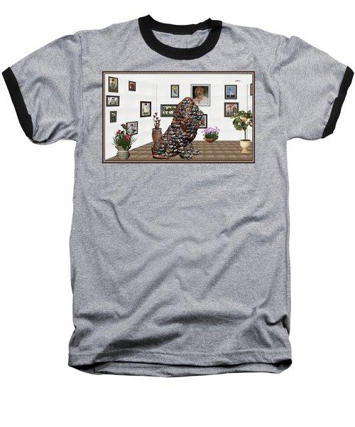 digital exhibition _Modern Statue of scrap Baseball T-Shirt by Pemaro