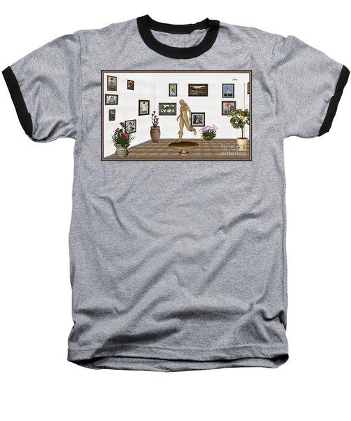 digital exhibition   sculpture of  posing  Girl 32  Baseball T-Shirt