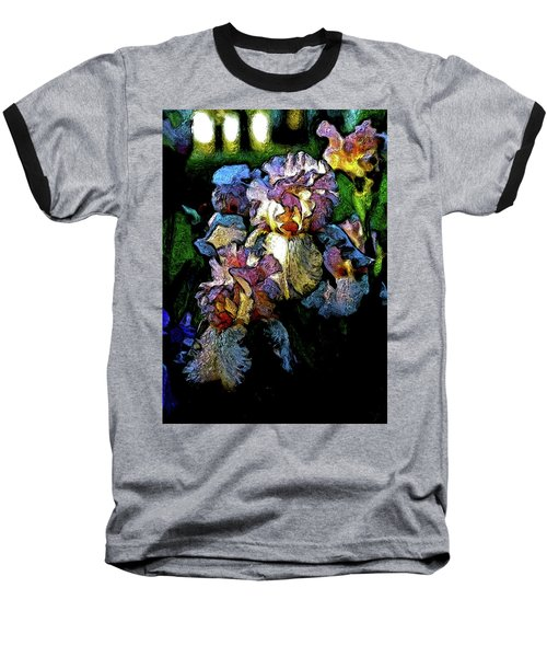 Digital Expressionist Painting Pale Pink Irises 6702 W_4 Baseball T-Shirt