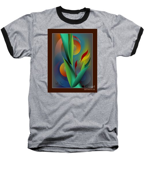 Digital Garden Dreaming Baseball T-Shirt