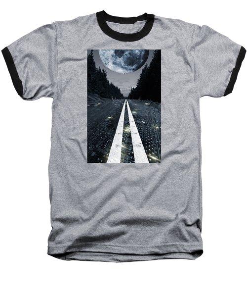 Digital Highway And A Full Moon Baseball T-Shirt
