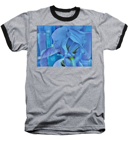 Baseball T-Shirt featuring the mixed media Digital Iris by Marsha Heiken