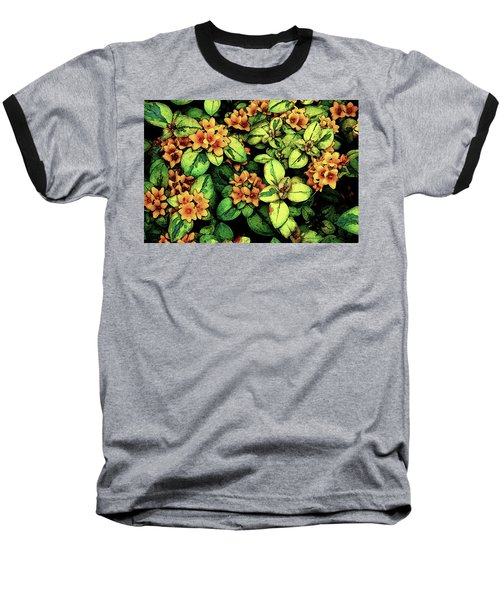 Digital Painting Quilted Garden Flowers 2563 Dp_2 Baseball T-Shirt