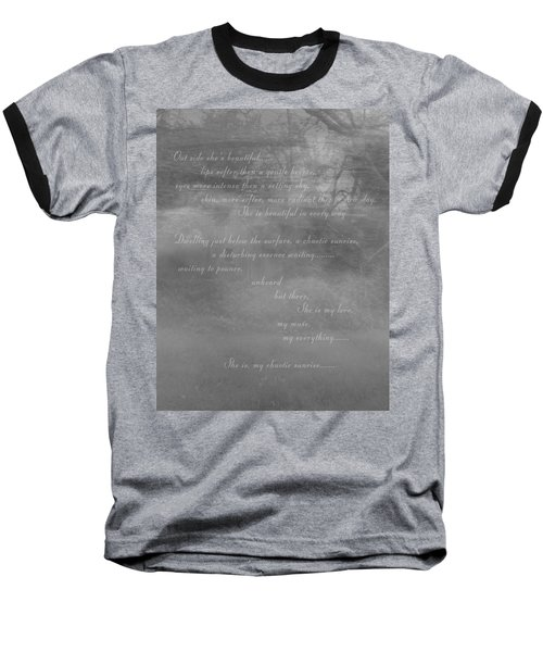 Digital Poem Baseball T-Shirt