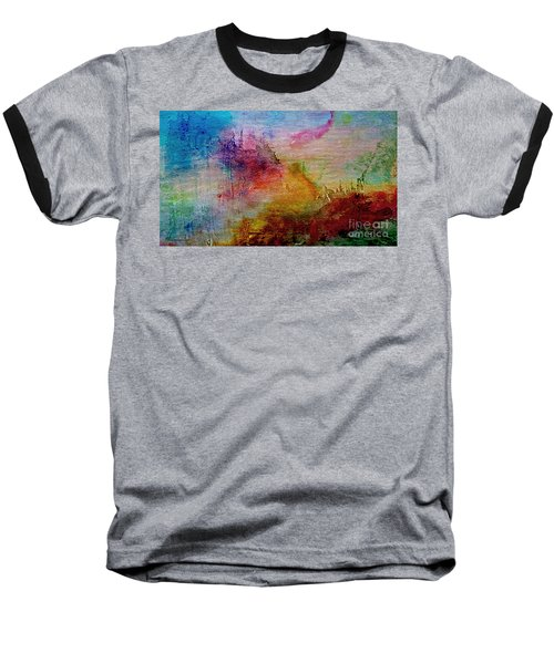 1a Abstract Expressionism Digital Painting Baseball T-Shirt