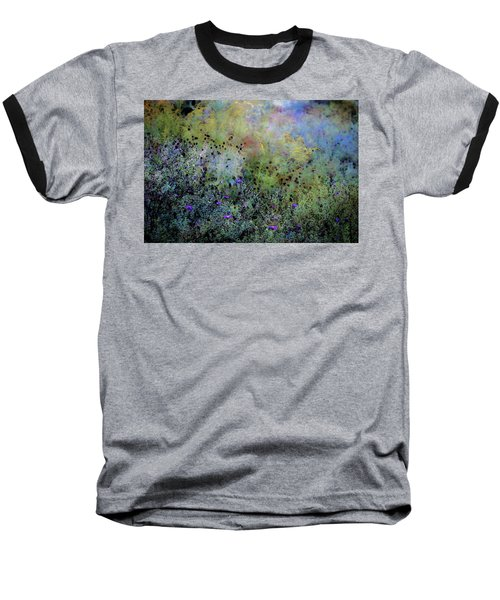 Digital Watercolor Field Of Wildflowers 4064 W_2 Baseball T-Shirt