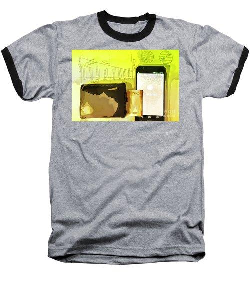 Digitalization Baseball T-Shirt by Kiran Joshi