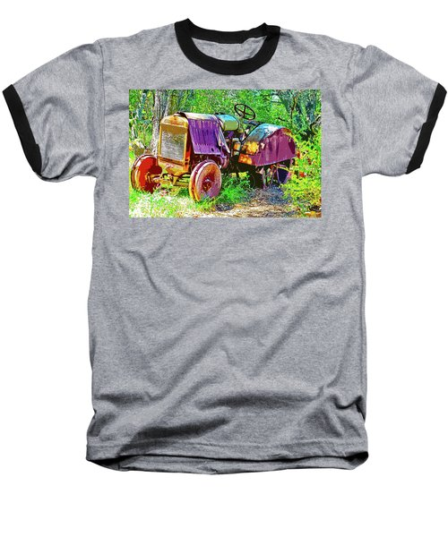 Dilapidated Tractor Baseball T-Shirt