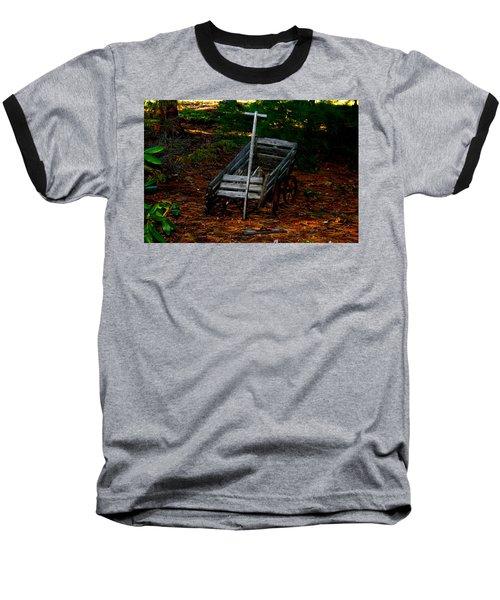 Dilapidated Wagon Baseball T-Shirt