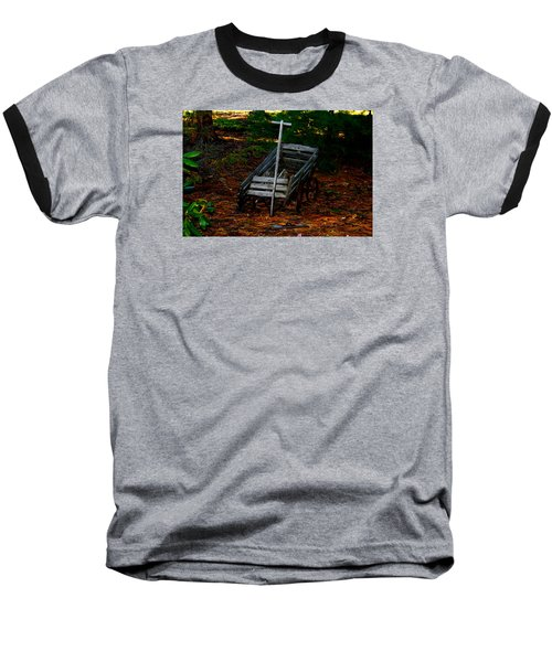 Dilapidated Wagon Baseball T-Shirt