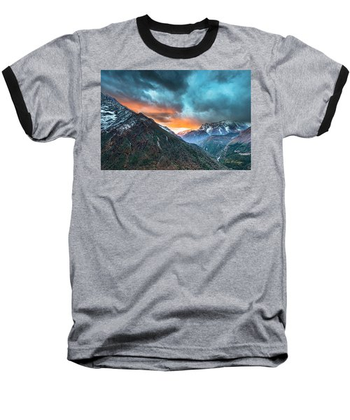 Dingboche Sunrise Baseball T-Shirt