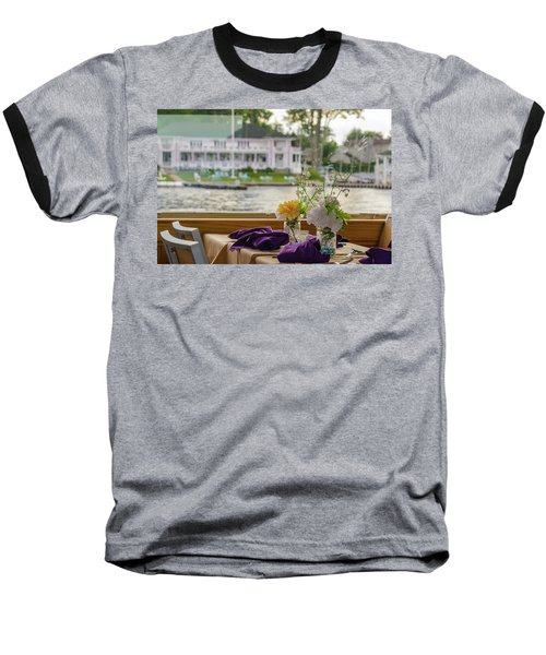 Baseball T-Shirt featuring the photograph Dining Aboard The Miss Lotta by Maureen E Ritter