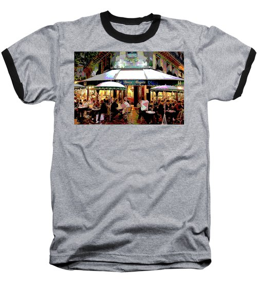 Dining Out Baseball T-Shirt by Charles Shoup