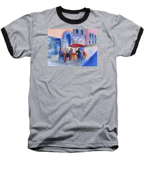 Dinner In Old San Juan Baseball T-Shirt by Frank Bright
