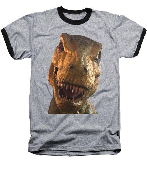 Dino Hello Baseball T-Shirt by Charles Kraus