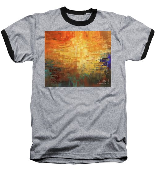 Baseball T-Shirt featuring the painting Dinosaur Lowlands by Tatiana Iliina