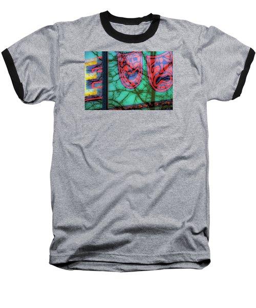 Dionysus Comedy And Tragedy V3 Baseball T-Shirt by Raymond Kunst