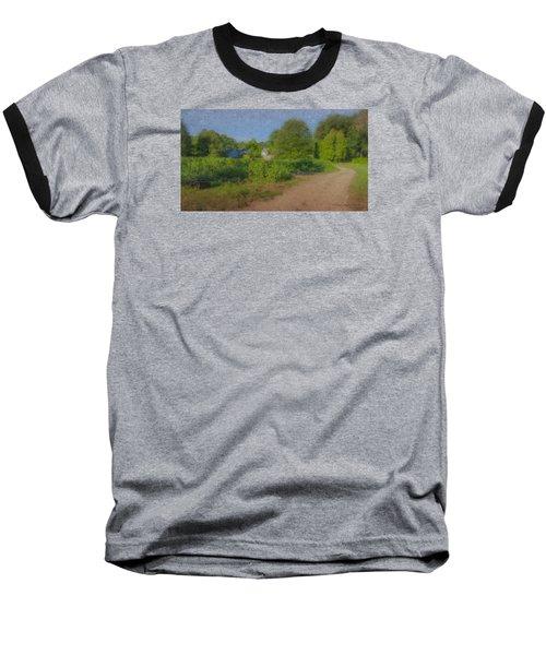Dirt Road At Langwater Farm Baseball T-Shirt