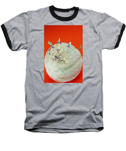Baseball T-Shirt featuring the painting Dirty Cleaning On Sweet Melon Little People On Food by Paul Ge