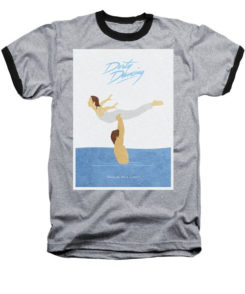 Baseball T-Shirt featuring the painting Dirty Dancing by Inspirowl