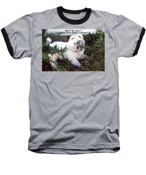 Dirty Dog Birthday Card Baseball T-Shirt