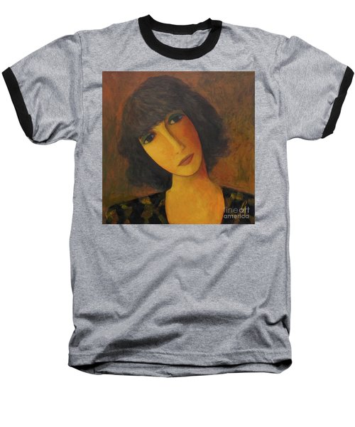 Baseball T-Shirt featuring the painting Disbelieving by Glenn Quist