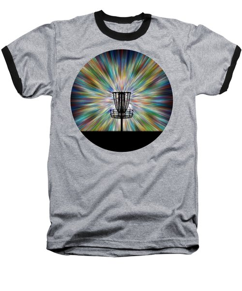 Disc Golf Basket Silhouette Baseball T-Shirt