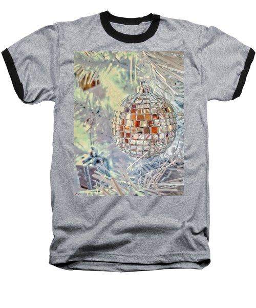 Disco Ball Tree Ornament Baseball T-Shirt