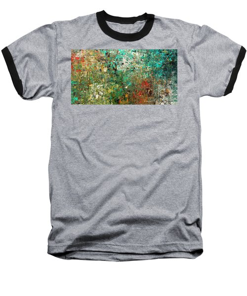 Baseball T-Shirt featuring the painting Discovery - Abstract Art by Carmen Guedez