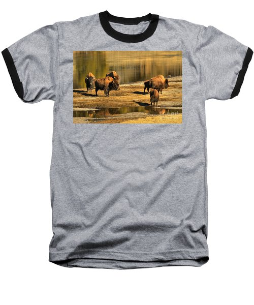 Baseball T-Shirt featuring the photograph Discussing The River Crossing by Adam Jewell