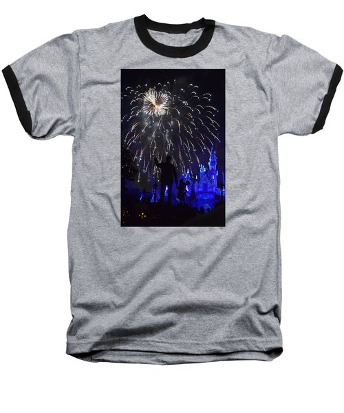 Disneyland By Fireworks Baseball T-Shirt